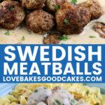 Swedish meatballs pin collage