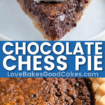 chocolate chess pie pin collage