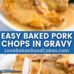 baked pork chops pin collage