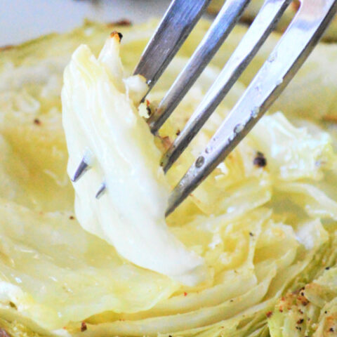 Garlic Butter Roasted Cabbage
