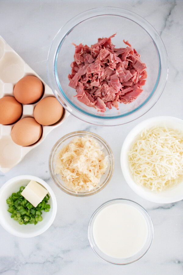 ingredients to make quiche