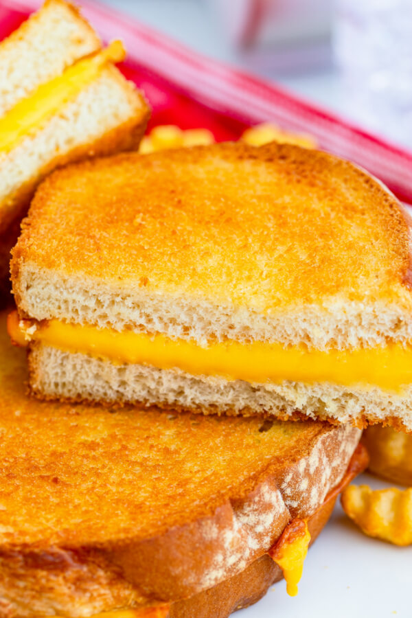 closeup of sandwich on plate