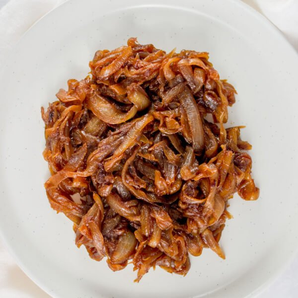 caramelized onions on plate