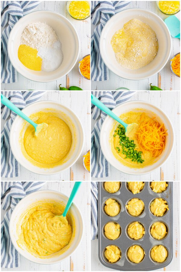 step by step how to make corn muffins