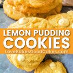 lemon pudding cookies pin collage