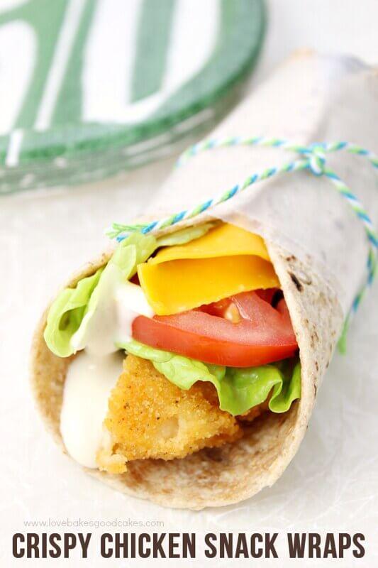 Crispy Chicken Snack Wraps.