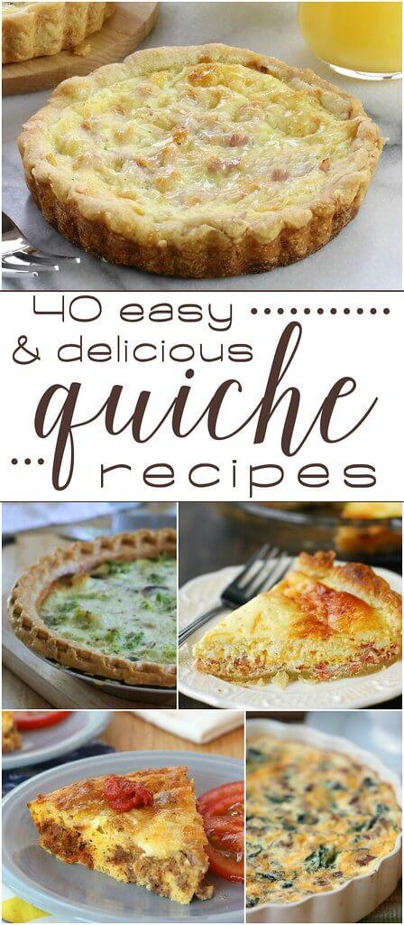 40 Easy & Delicious Quiche Recipes collage.