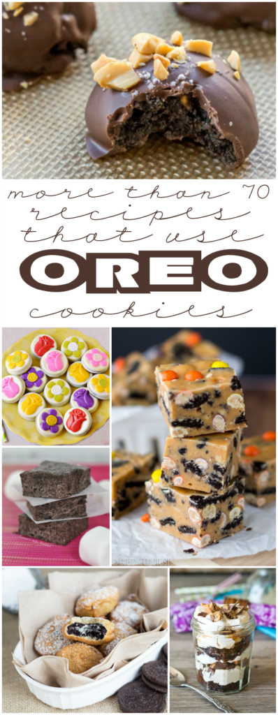More than 70 recipes that use Oreo cookies collage.