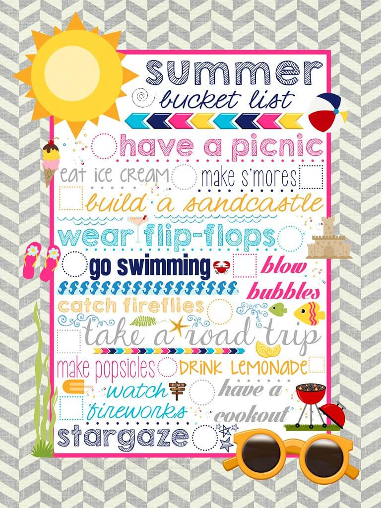 Summer Bucket List Printable.