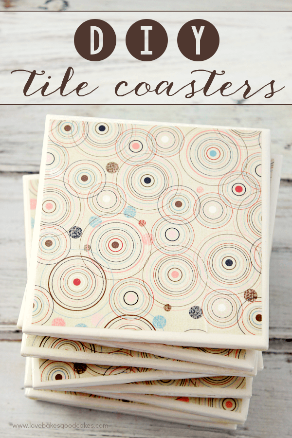 DIY Tile Coasters and Everyday Moments. Tiles stacked together.