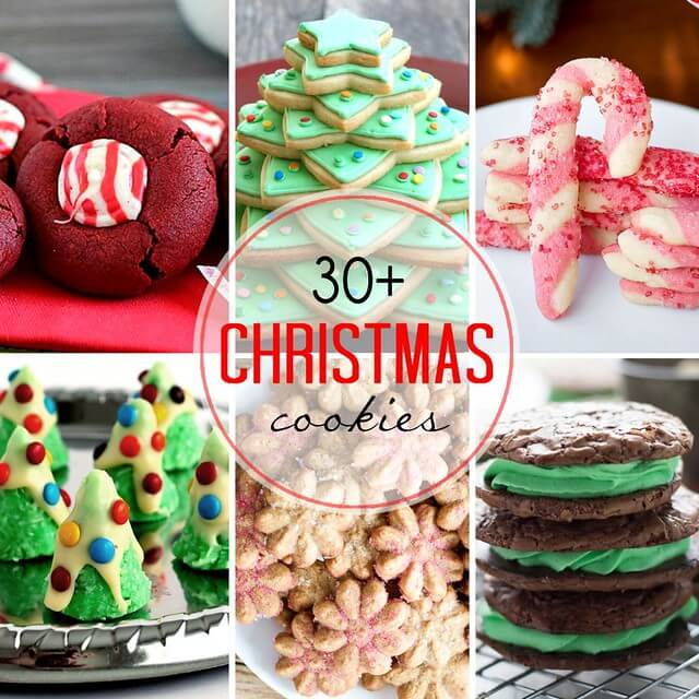 30+ Christmas Cookies collage.