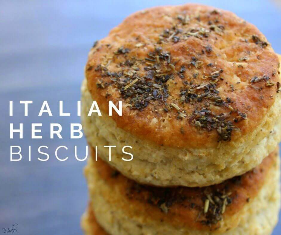 Italian Herb Biscuits stacked up.