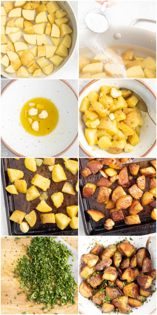 how to make crispy herb roasted potatoes