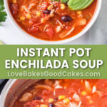 instant pot enchilada soup pin collage