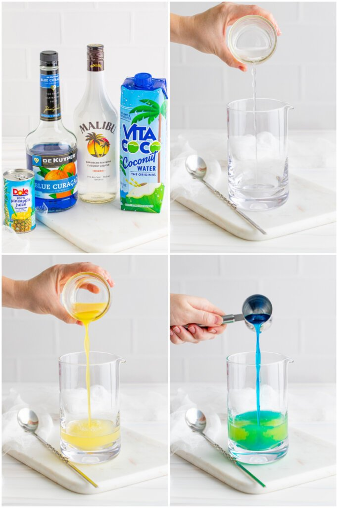 how to assemble the drink