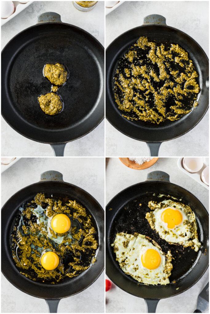 how to make pesto eggs