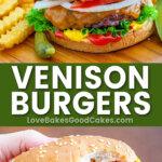 venison burgers pin collage