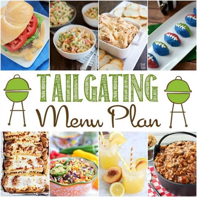 Tailgating Menu Plan collage.