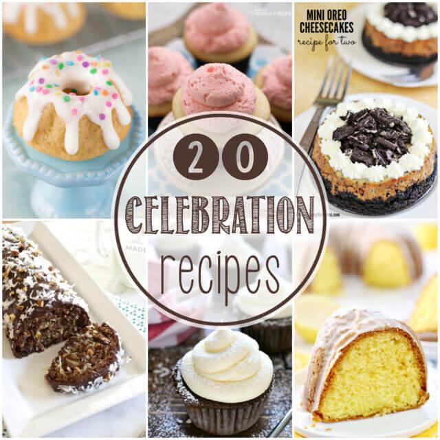 20 Celebration Recipes collage.