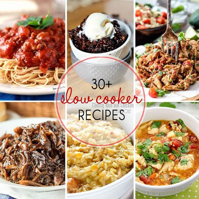 30+ Slow Cooker Recipes collage.