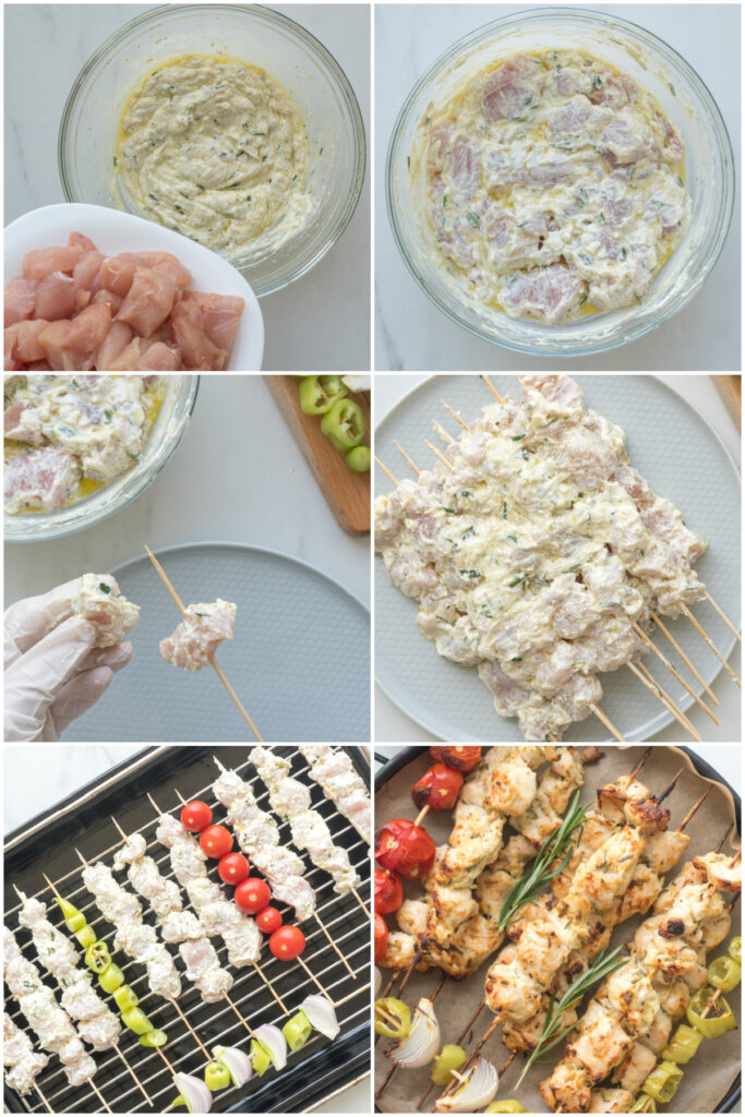 how to make chicken skewers