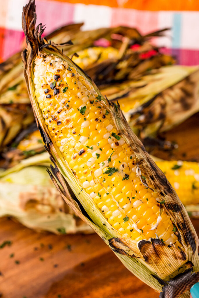 ear of grilled corn