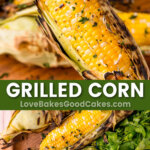 grilled corn pin collage