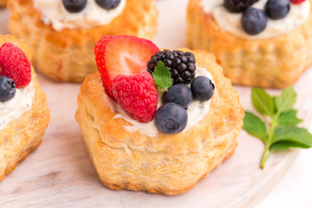berry mojito fruit tarts