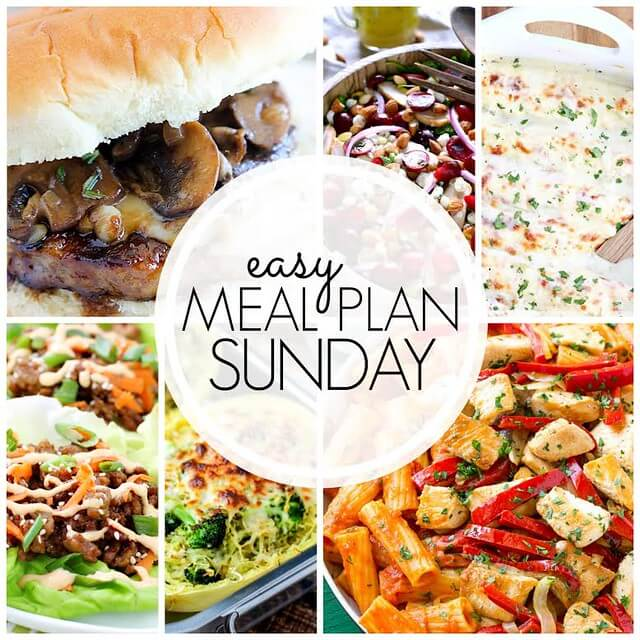 Easy meal plan Sunday.