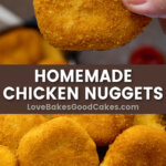 homemade chicken nuggets pin collage