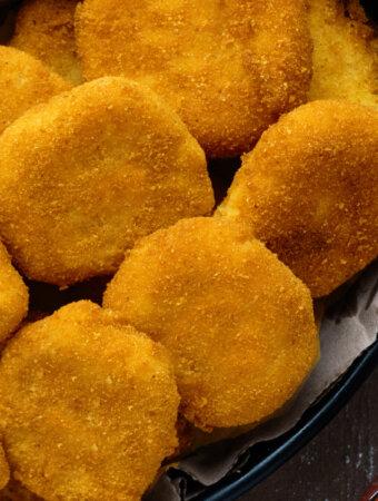 homemade chicken nuggets in basket