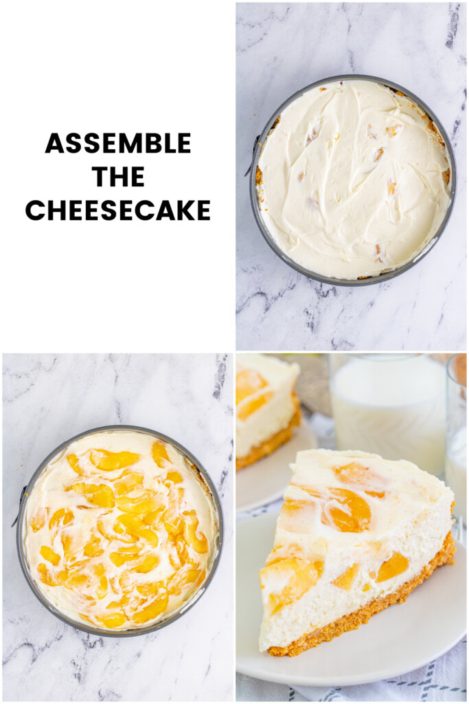 how to assemble the cheesecake collage