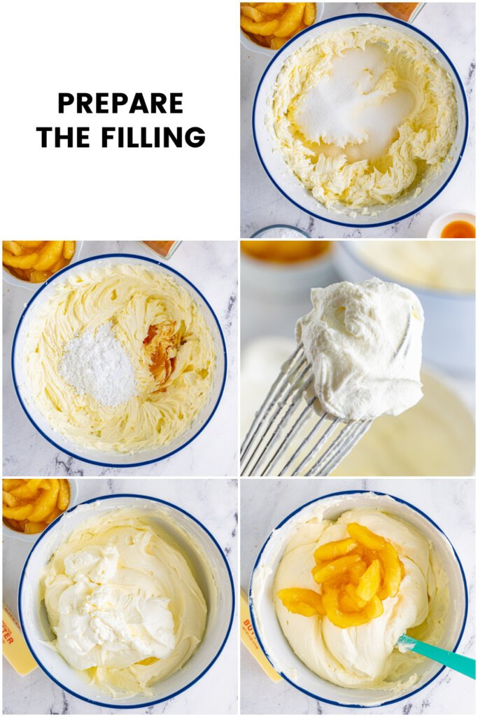 how to prepare the filling collage