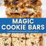 Magic Cookie Bars pin collage