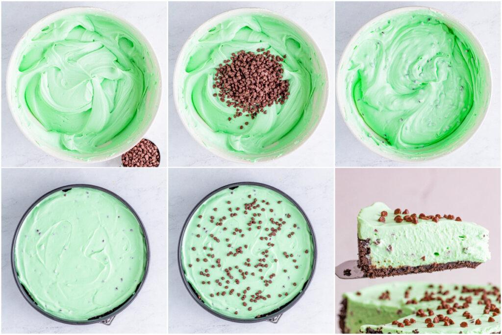 how to make mint chocolate cheesecake