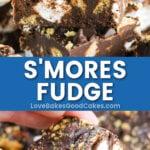 s'mores fudge pin collage